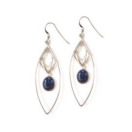 Lightening Blue Drusy Diamond Earrings