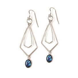 Paua shell Milled Edge Setting Earrings project