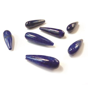 Lapis Lazuli Top Drilled Teardrop Gemstone Bead, 20x6mm