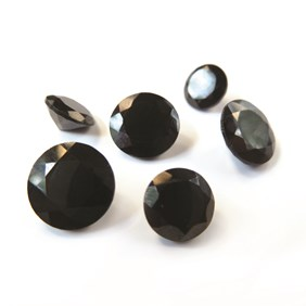 Black Spinel Faceted Stones