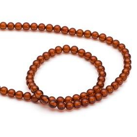 Amber Round Beads, 4mm