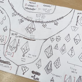 geometric jewellery designs work experience kernowcraft