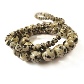 Dalmation Jasper Round Beads