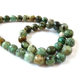 African Turquoise Faceted Round Beads 8mm