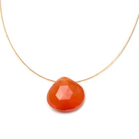 Carnelian Briolette Necklace