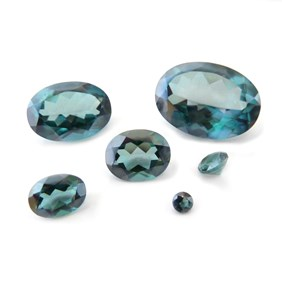 Sea Green Quartz Faceted Stones