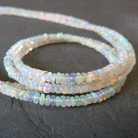 Ethiopian Opal Rondelle Beads