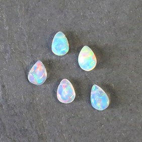 Ethiopian Opal Teardrop Briolette Beads, Pack of 10 Beads