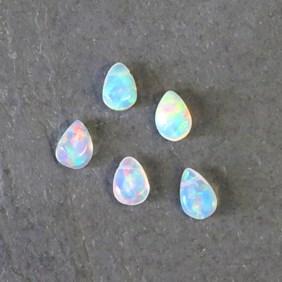 Ethiopian Opal Teardrop Briolette Beads, Approx 6x4mm