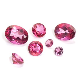 Pink Topaz Faceted Stones