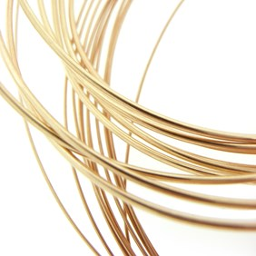 9ct Gold Plated Wire