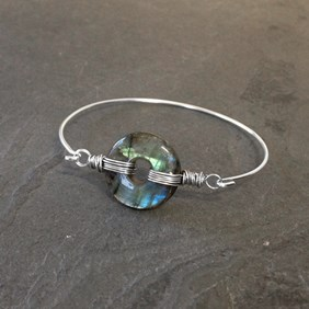 Labradorite Wrapped Bangle