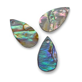 Paua Shell Teardrop Shape Charm, Approx 18x10mm
