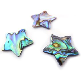 Paua Shell Star Shape Charm
