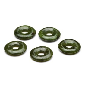 Nephrite Jade Gemstone Donuts, 20mm