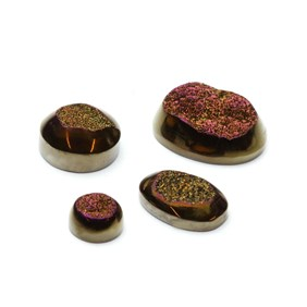 Bronze Glow Window Drusy Cabochons