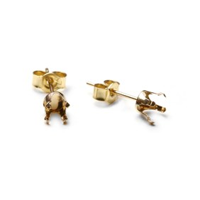 gold snaptite earring settings