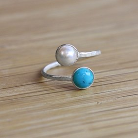 Adjustable Gemstone Ring - Using Ring Setting With Flat Plates