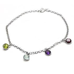 Family Birthstone Charm Bracelet