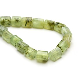 Prehnite Curved Triangular Tube Beads, Approx 10-15mm