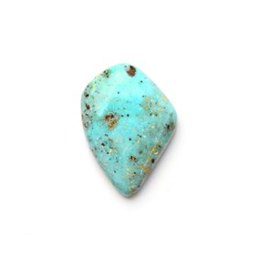 Untreated Natural Turquoise Freeform Cabochon, Approx 22x16mm