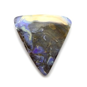 Australian Boulder Opal Freeform Cabochon, Approx 38x33mm