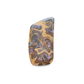Australian Boulder Opal Freeform Cabochon, Approx 30x15.5mm