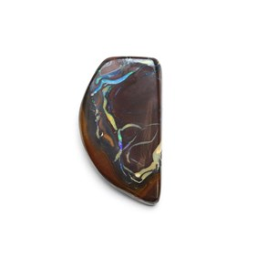 Australian Freeform Boulder Opal Cabochon, Approx 30x17mm