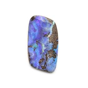 Australian Freeform Boulder Opal Cabochon, Approx 33.5x17.5mm