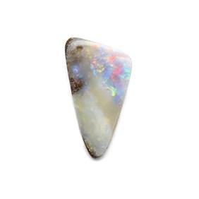 Australian Freeform Boulder Opal Cabochon, Approx 18.5x10mm