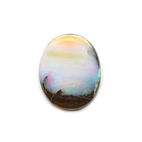 Australian Freeform Boulder Opal Cabochon, Approx 19.5x15.5mm