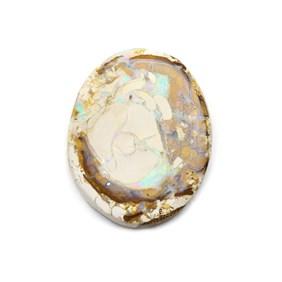 Australian Freeform Boulder Opal Cabochon, Approx 42x34mm