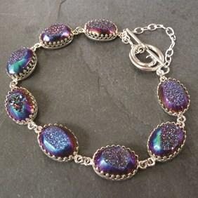 drusy gallery wire bracelet