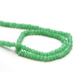 Green Agate Faceted Rondelle Beads, Approx 3mm