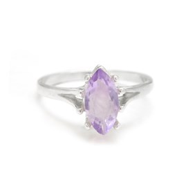 marquise ring for faceted stone sterling silver