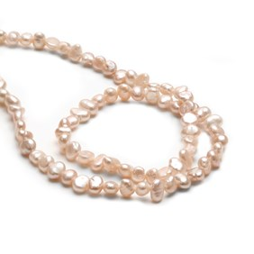 Cultured Freshwater Blush Pink Semi-Baroque Pearls, Approx 3-6mm