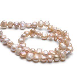 Cultured Freshwater Pink Semi-Baroque Pearls, Approx 5-8mm