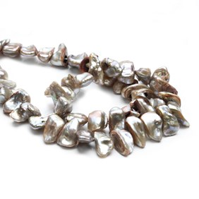 Cultured Freshwater Sandstone Keshi Pearls, Approx 8-15mm