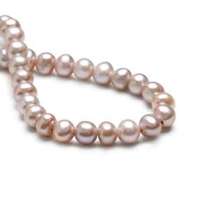 Blush Pink Cultured Freshwater Round Large Hole Pearls