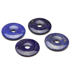 Lapis Lazuli Gemstone Donuts, Approx 30mm