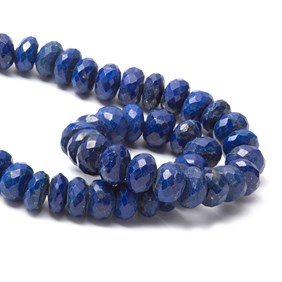 Lapis Lazuli Faceted Rondelle Beads, Approx 6x4mm