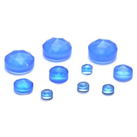 Blue Chalcedony Rose Cut Cabochons