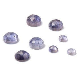 Iolite Rose Cut Cabochons