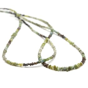 Green Ombre Diamond Natural Rough Nuggets Beads, Approx 1-2.5mm
