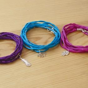 Silk Charm Bracelets