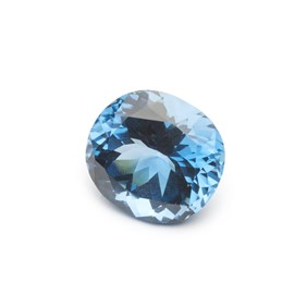 London Blue Topaz 23.5x21mm Oval Faceted Stone