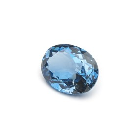 London Blue Topaz 22x17mm Oval Faceted Stone