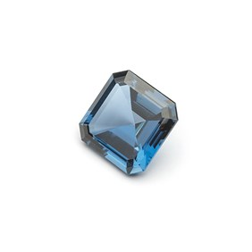 London Blue Topaz 15.8mm Square Faceted Stone