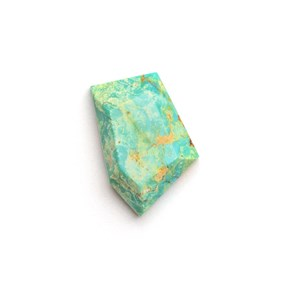 Untreated Natural Turquoise Faceted Top Cabochon, Approx 18x12mm