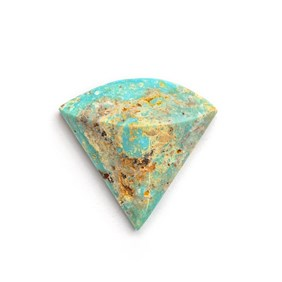 Untreated Natural Turquoise Faceted Top Cabochon, Approx 21x20mm